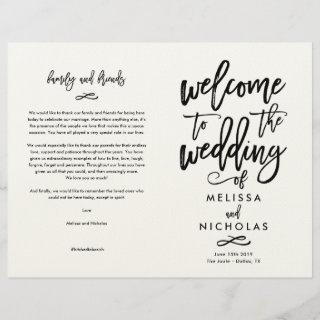 Custom Design- Melissa and Nicholas Program  FINAL