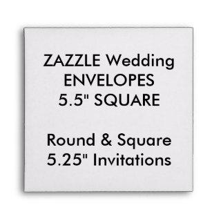 "Custom Envelopes 5.25"" Square Invitations"