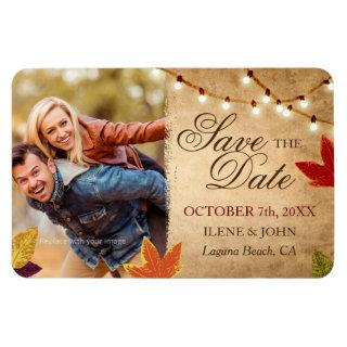 Custom Save the Date Magnets Fall Wedding
