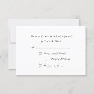 Custom Simple Elegant Party RSVP Invitation Card