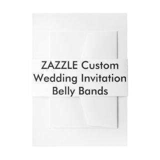 Custom Wedding Invitations Belly Bands Wraps Invitations Belly Band