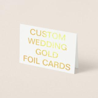 Custom Wedding Mini Personalized Gold Foil Card