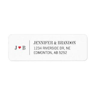 Custom Wedding Return Address Label