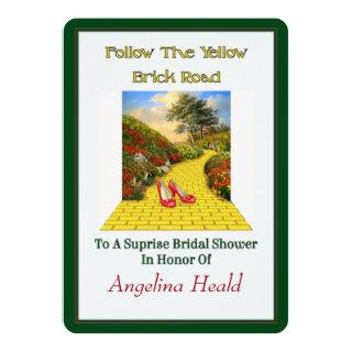 Customizable Follow Yellow Brick Road Wizard Of Oz Invitation