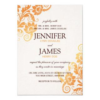 Customizable Ombre Fall Wedding Invitations