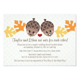 Cute and Funny Acorn Couples Wedding Shower Invitations