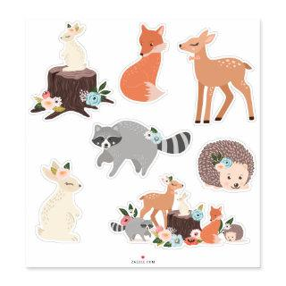 Cute Baby Woodland Forest Animals Sticker