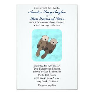 Cute Otter Wedding Invitations Otter Couple Wedding