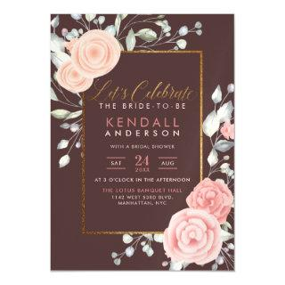 Cute Pink Painted Blooms Spring Bridal Shower Magnetic Invitations