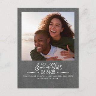 Cute Simple and Elegant Save the Date Photo Announcement Postcard