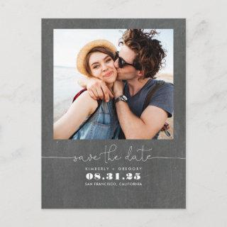 Cute Simple and Minimal Save the Date Photo Announcement Postcard