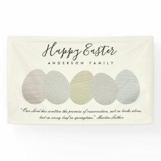 CUTE SOFT SUBTLE PASTEL EASTER EGGS PERSONALIZED BANNER