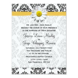 Daisy and Damask Wedding Invitations