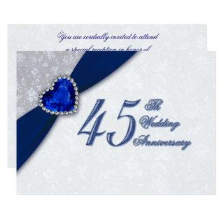 Damask 45th Wedding Anniversary Invitations