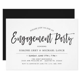 Dancing Script | Minimal Style Engagement Party Invitation
