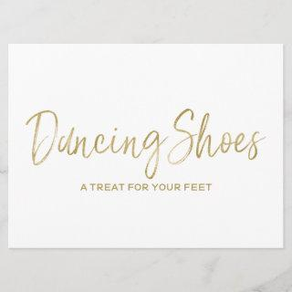 """Dancing Shoes"" Stylish Golden Wedding Sign Invitation"