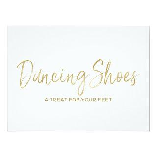 """Dancing Shoes"" Stylish Golden Wedding Sign Invitations"