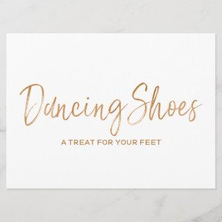 """Dancing Shoes"" Wedding Sign 