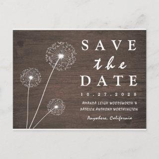Dandelion Barn Wood Country Save The Date Cards
