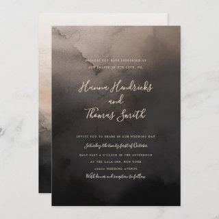 Dark Ink Wedding Invitations