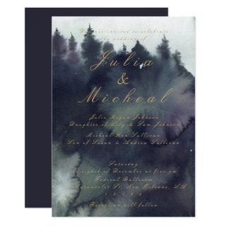 Dark Moody Ethereal Forest Wedding Invitation