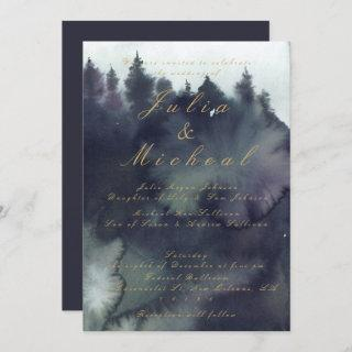 Dark Moody Ethereal Forest Wedding Invitations