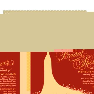 Dark Navy Bridal Shower | Elegant Wedding Gown Invitation
