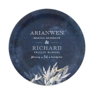 Dark Vintage Wreath with rustic Foliage  Gift Tags Paper Plate