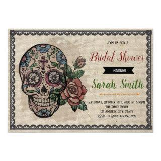 Day of the dead bridal shower 3 invitation