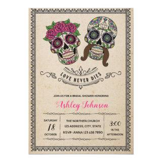 Day of the dead bridal shower invitation