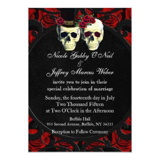 Day of the Dead Bride and Groom Wedding Invitations