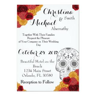 Day of the Dead Dia Los Muertos Wedding Invitations