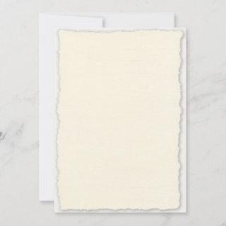 Deckled Edge Paper Wedding  Template