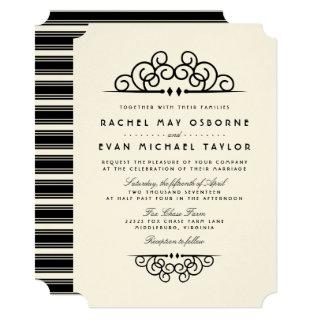Deco Flourish Wedding Invitations