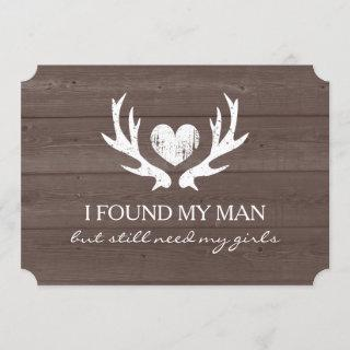 Deer antler Will you be my bridesmaid request card