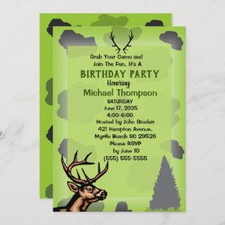 Deer Hunter Camouflage Birthday Party