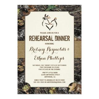 Deer Hunting Camo Rehearsal Dinner Invitations