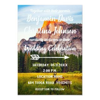 Deer & Mountains Wedding Invitations