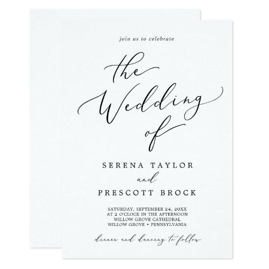 Delicate Black Calligraphy All In One Wedding
