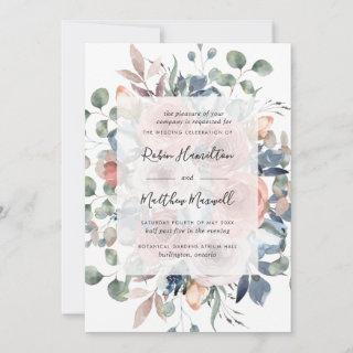 Delicate Blooms with Greenery, Dusty Blue Wedding