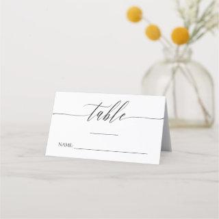 Delicate Calligraphy - Names & Wedding Date Place Card