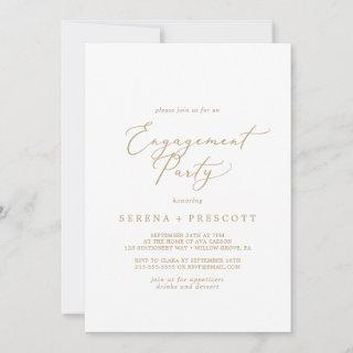 Delicate Gold Calligraphy Engagement Party