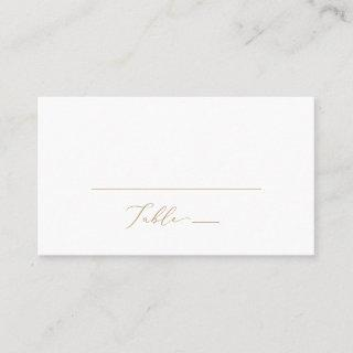 Delicate Gold Calligraphy Flat Wedding Place Card