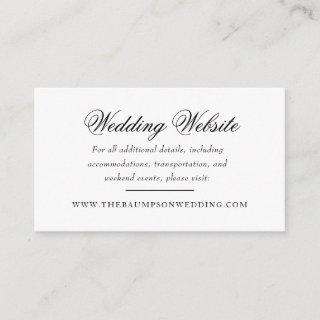 Delicate Lace Black and Gold Script Website Enclosure Card