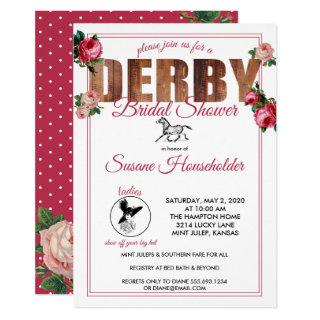 Derby Bridal Shower Horse Racing Roses Invitation
