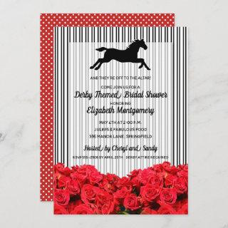 Derby Bridal Shower Red Roses Racehorse Invitations