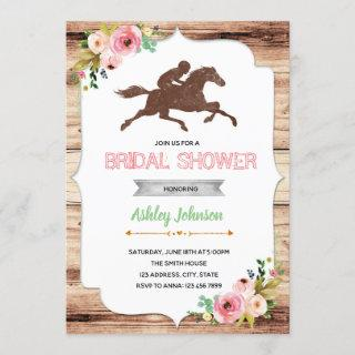 Derby day bridal shower party invitation