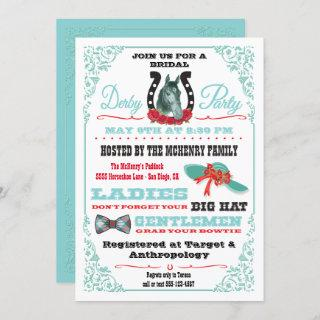 Derby Horse Racing Bridal Shower Party invitation
