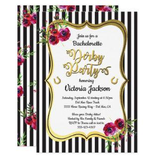Derby Themed Bachelorette Party Invitations