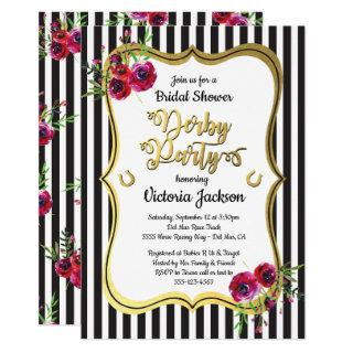 Derby Themed Bridal Shower Invitations